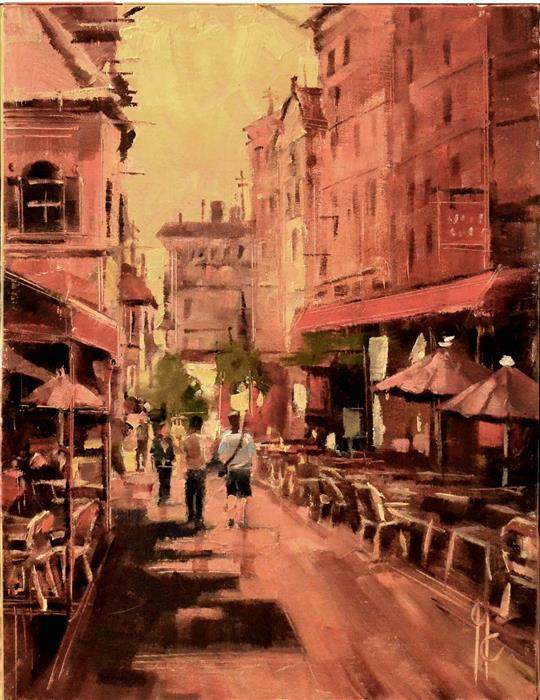 Discover Original Art by Garry Colby | Paris Streets oil painting | Art for Sale Online at UGallery