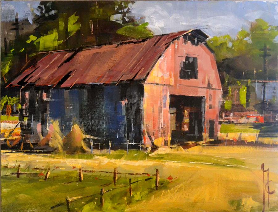 Original art for sale at UGallery.com | Barn Open Door by GARRY COLBY | $825 | Oil painting | 16' h x 20' w | http://www.ugallery.com/oil-painting-barn-open-door