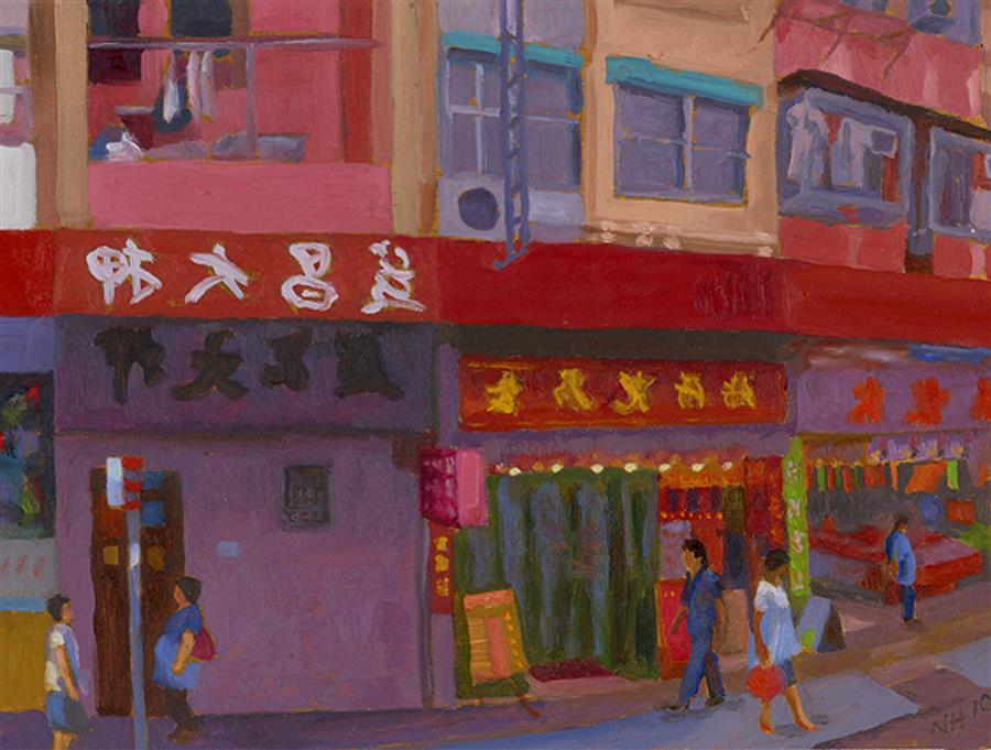 Discover Original Art by Nancy Herman | Hong Kong oil painting | Art for Sale Online at UGallery