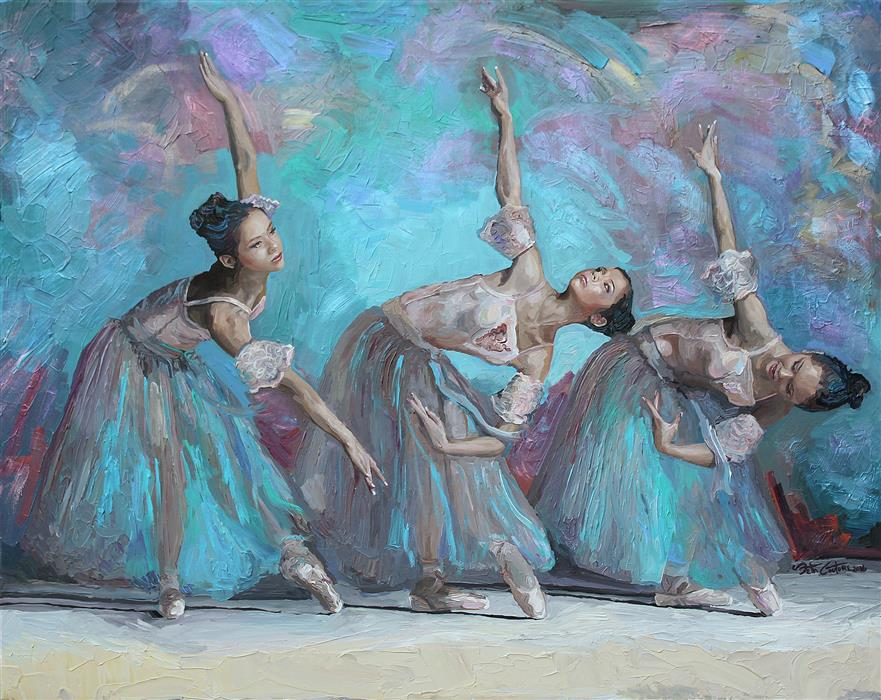 Original art for sale at UGallery.com | Ballerina Movement Study No 4 by SETH COUTURE | $1,825 | Acrylic painting | 28' h x 36' w | http://www.ugallery.com/acrylic-painting-ballerina-movement-study-no-4