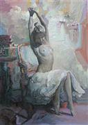 Nudes art,Representational art,acrylic painting,Sia's Sanctuary