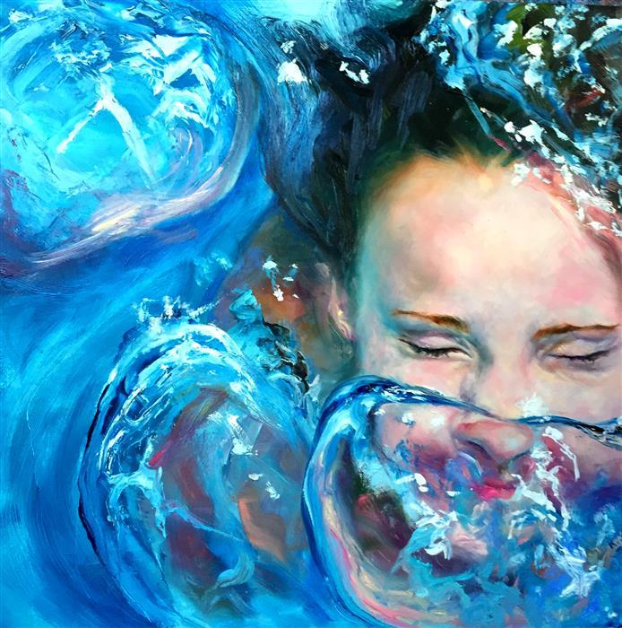 Original art for sale at UGallery.com | Breaking Through Study by JENNIFER HANNAFORD | $675 | Oil painting | 12' h x 12' w | http://www.ugallery.com/oil-painting-breaking-through-study