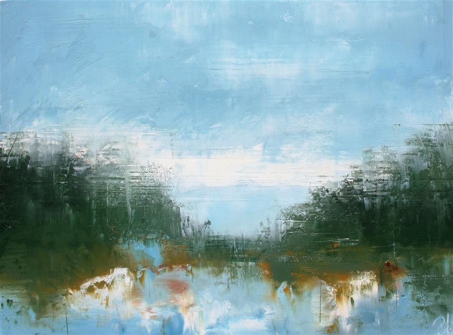 Original art for sale at UGallery.com | By Timber Creek by RONDA WAIKSNIS | $625 | Oil painting | 22' h x 30' w | http://www.ugallery.com/oil-painting-by-timber-creek