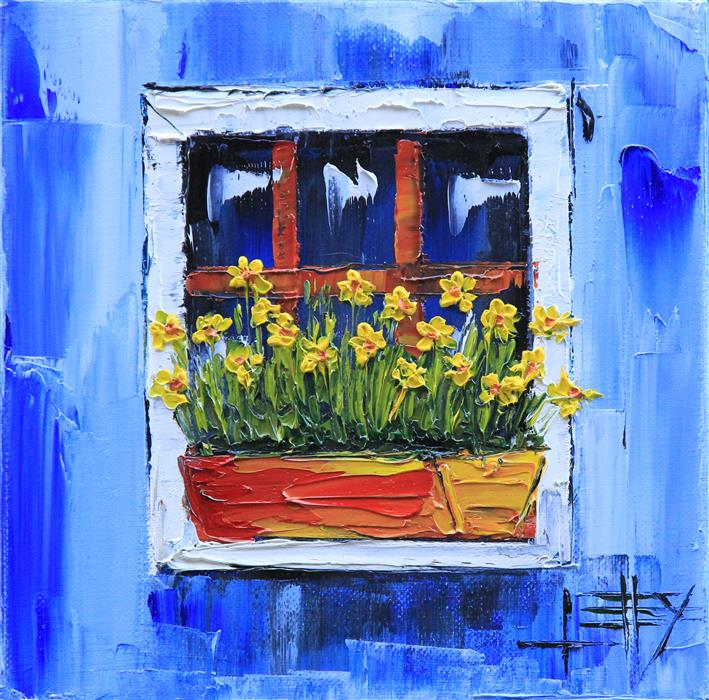 Discover Original Art by Lisa Elley | Italy in Blue oil painting | Art for Sale Online at UGallery