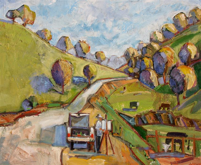 Discover Original Art by James Hartman | Painting on Mt. Diablo in June oil painting | Art for Sale Online at UGallery