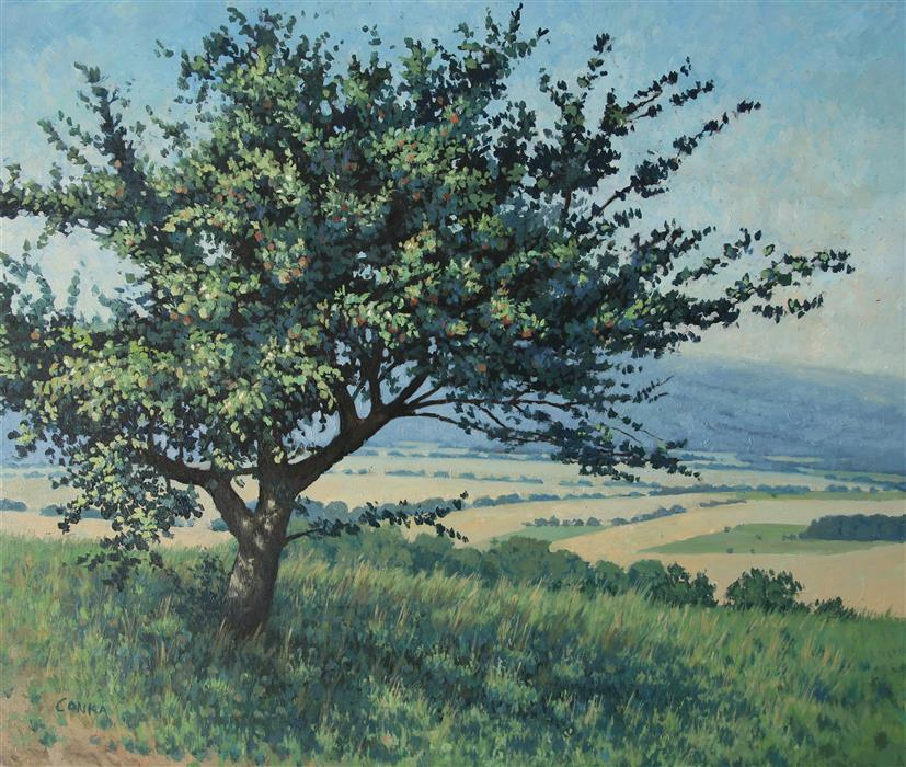 Discover Original Art by Stefan Conka | Wild Apple Tree oil painting | Art for Sale Online at UGallery