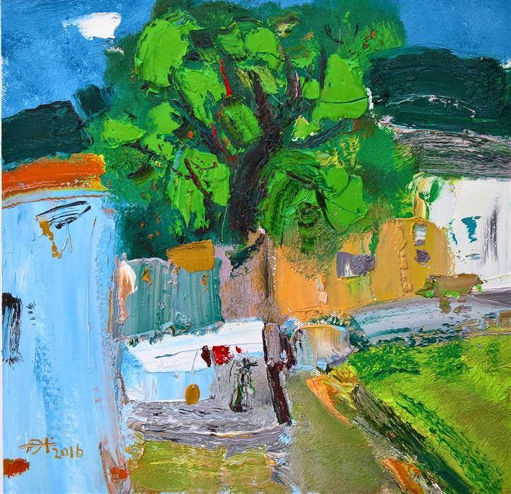 Discover Original Art by Yi Tian | Impressionist Landscape 3 oil painting | Art for Sale Online at UGallery