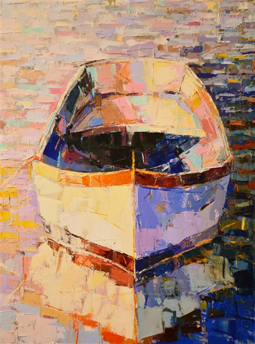 Discover Original Art by Kim McAninch | Boat/34 oil painting | Art for Sale Online at UGallery