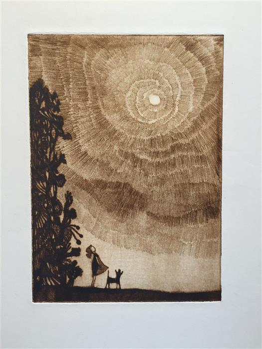 Original art for sale at UGallery.com | Ball in the Sky by DOUG LAWLER | $225 | Printmaking | 10' h x 8' w | http://www.ugallery.com/printmaking-ball-in-the-sky