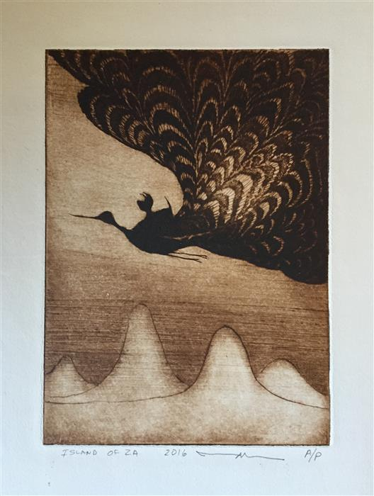 Original art for sale at UGallery.com | Flight by DOUG LAWLER | $225 | Printmaking | 10' h x 8' w | http://www.ugallery.com/printmaking-flight
