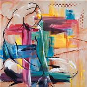 Expressionism art,Nudes art,Representational art,acrylic painting,Look Back