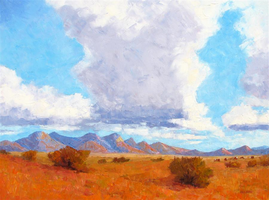 Discover Original Art by Roger Alderman | Summer Skies oil painting | Art for Sale Online at UGallery