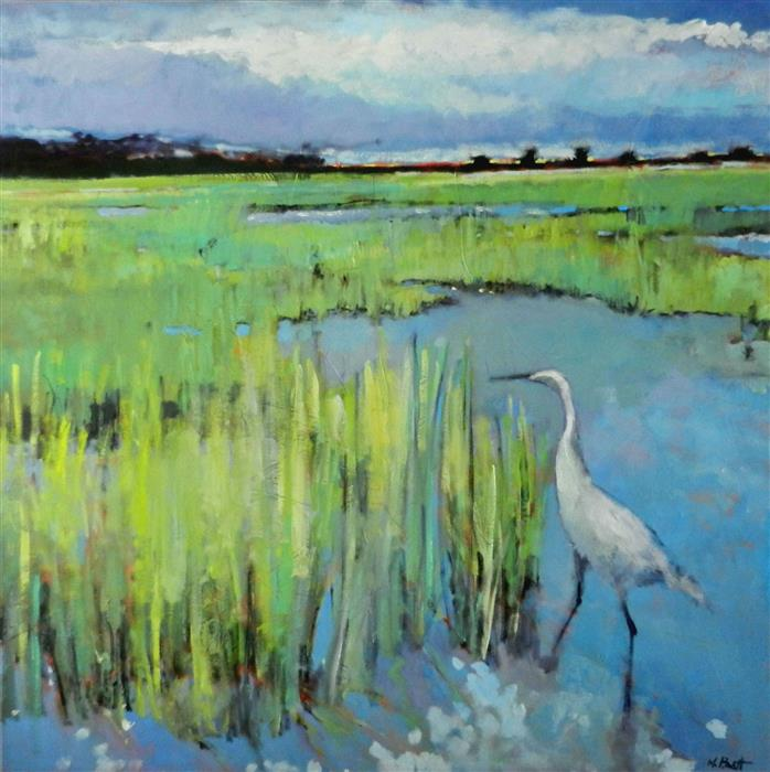 Discover Original Art by Mary Pratt | Egret oil painting | Art for Sale Online at UGallery