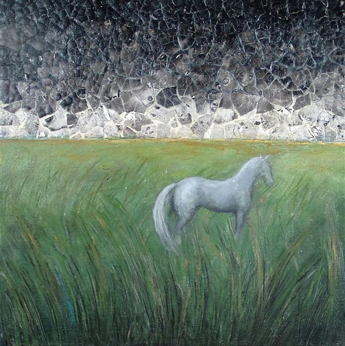 Discover Original Art by Jennifer Ross | I Wish You the Beauty of Storms mixed media artwork | Art for Sale Online at UGallery