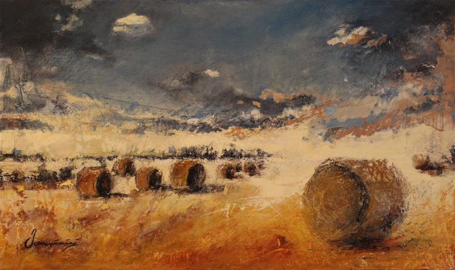 Original art for sale at UGallery.com | Golden Pennsylvania Fields by NEDIM OMERCAUSEVIC | $925 | Oil painting | 18' h x 30' w | http://www.ugallery.com/oil-painting-golden-pennsylvania-fields