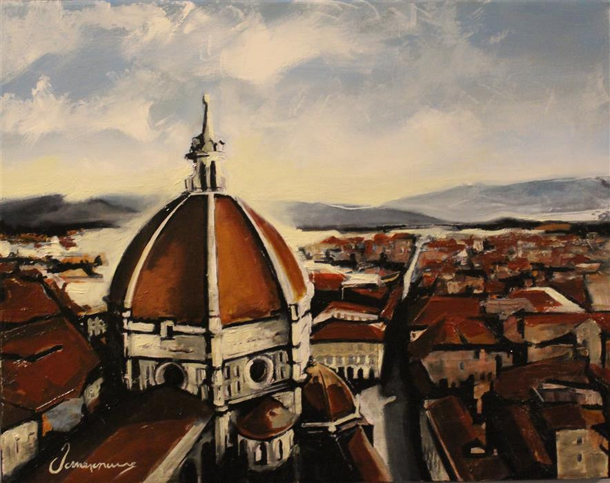 Original art for sale at UGallery.com | Florence by NEDIM OMERCAUSEVIC | $550 | Oil painting | 15' h x 19' w | http://www.ugallery.com/oil-painting-florence-47259