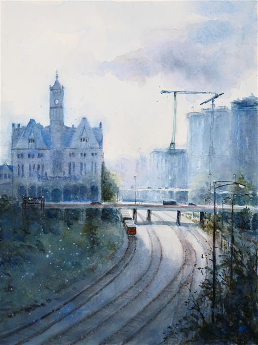 Original art for sale at UGallery.com | Union Station by JUDY MUDD | $650 | Watercolor painting | 16' h x 12' w | http://www.ugallery.com/watercolor-painting-union-station
