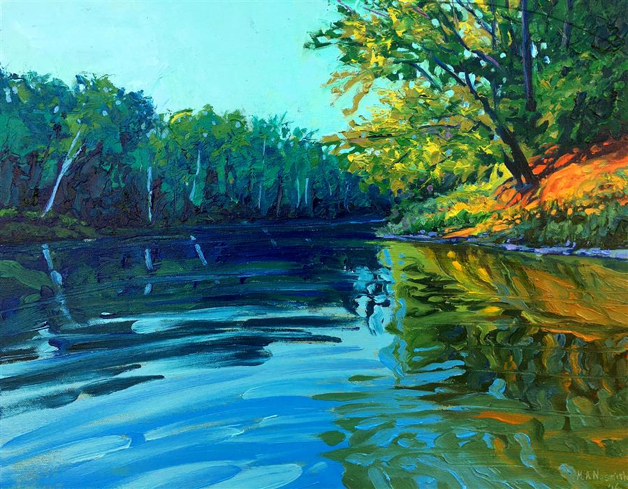 Discover Original Art by Mark Nesmith | Float the River oil painting | Art for Sale Online at UGallery