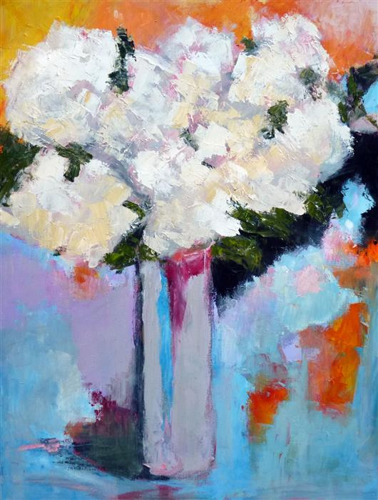 Original art for sale at UGallery.com | Waiting to be Noticed by JUDY MACKEY | $1,300 | Oil painting | 30' h x 24' w | http://www.ugallery.com/oil-painting-waiting-to-be-noticed