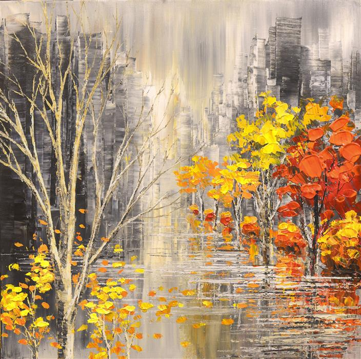 Discover Original Art by Tatiana Iliina   Shades of the Season acrylic painting   Art for Sale Online at UGallery