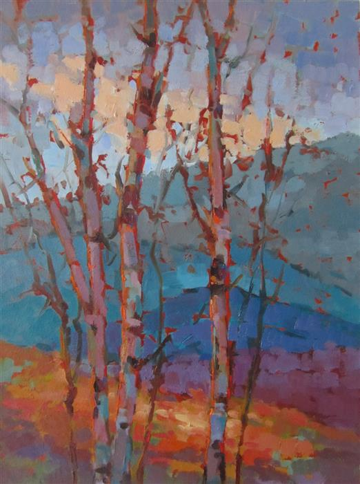 Discover Original Art by Tricia May | Sunlit Tapestry #2 oil painting | Art for Sale Online at UGallery
