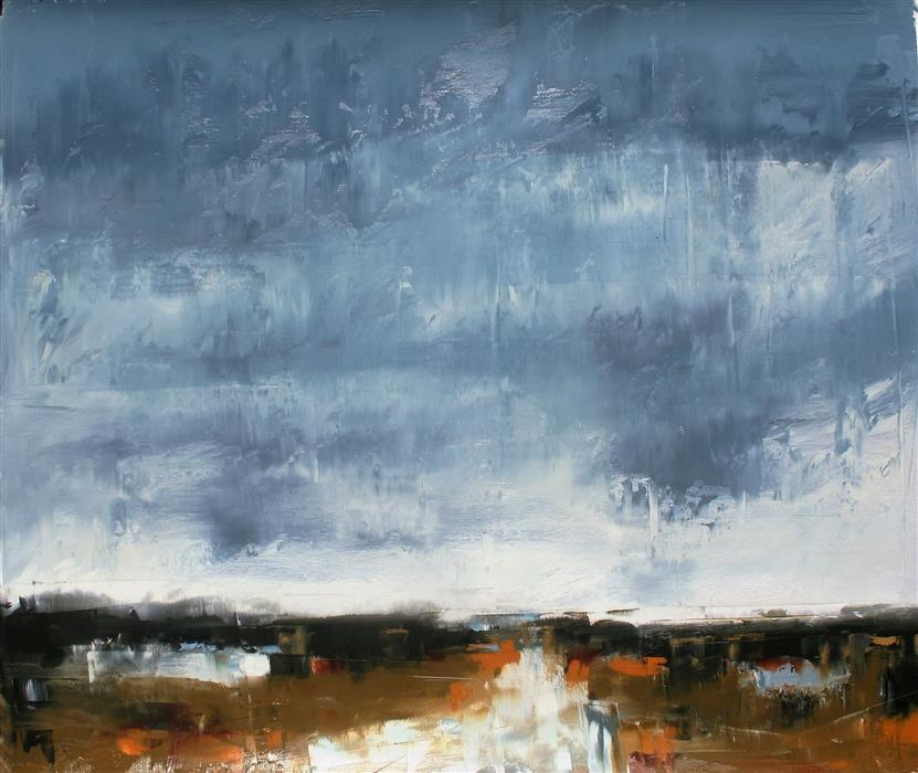 Discover Original Art by Ronda Waiksnis | Rainy View oil painting | Art for Sale Online at UGallery