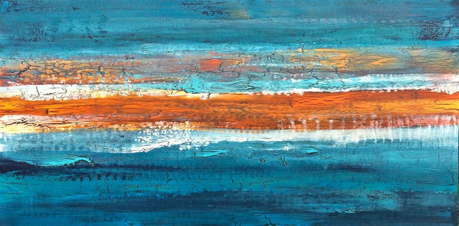 Discover Original Art by Alicia Dunn | Unstoppable Sundown acrylic painting | Art for Sale Online at UGallery