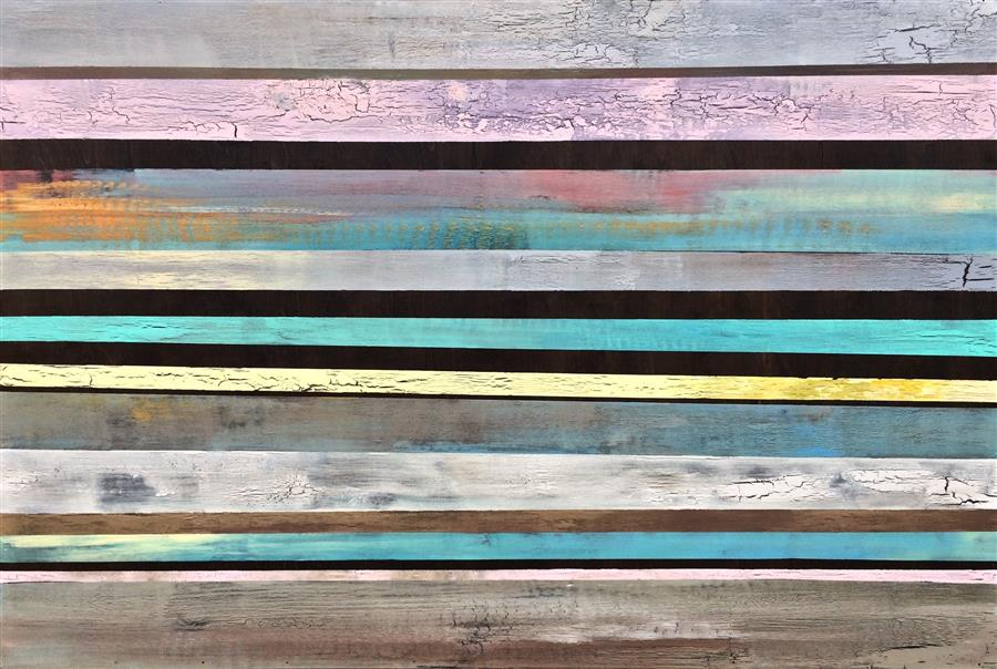 Discover Original Art by Alicia Dunn | Rustic Continuum acrylic painting | Art for Sale Online at UGallery