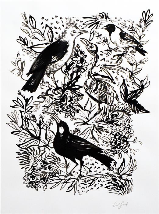 Discover Original Art by Ashley Cecil | Extinct ink artwork | Art for Sale Online at UGallery