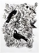Animals art,Nature art,Representational art,Vintage art,ink artwork,Extinct