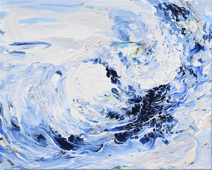 Discover Original Art by Piero Manrique | Wave Flow acrylic painting | Art for Sale Online at UGallery
