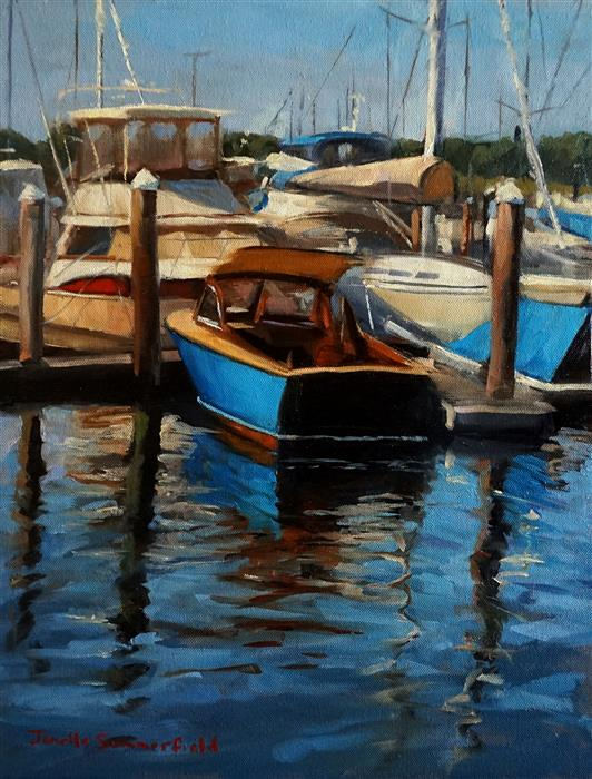 Discover Original Art by Jonelle Summerfield   Newport Harbor oil painting   Art for Sale Online at UGallery