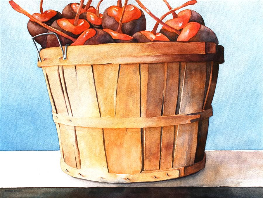 Discover Original Art by Dwight Smith | Cherry Season watercolor painting | Art for Sale Online at UGallery