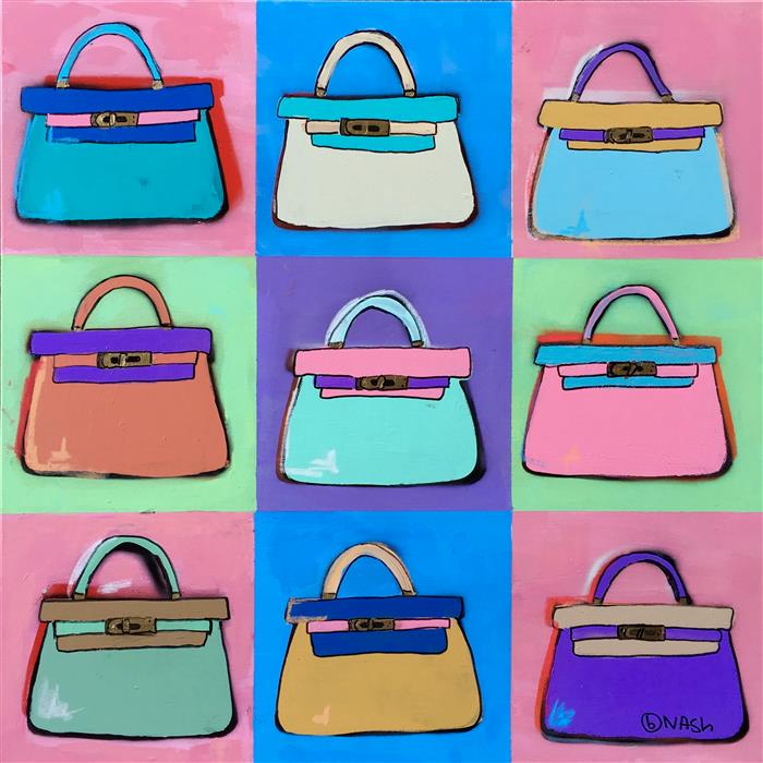 Discover Original Art by Brian Nash | Kelly Bags acrylic painting | Art for Sale Online at UGallery