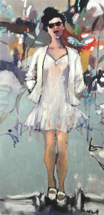 Discover Original Art by Mary Pratt | Figure in White oil painting | Art for Sale Online at UGallery