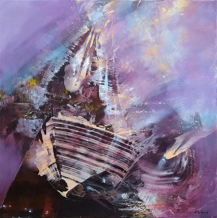 Discover Original Art by Kloska Ovidiu | The Boat of Self Conscience Diaphane Dreamlike acrylic painting | Art for Sale Online at UGallery
