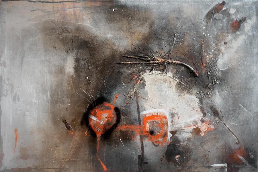 Original art for sale at UGallery.com | Solitudine by ADRIANO RIBEIRO | $1,575 | Mixed media artwork | 31' h x 47' w | http://www.ugallery.com/mixed-media-artwork-solitudine