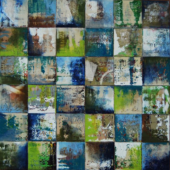 Discover Original Art by Janet Hamilton | Squares by 48C mixed media artwork | Art for Sale Online at UGallery