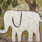 Animals art,Representational art,Primitive art,Modern  art,acrylic painting,Elephant Walk
