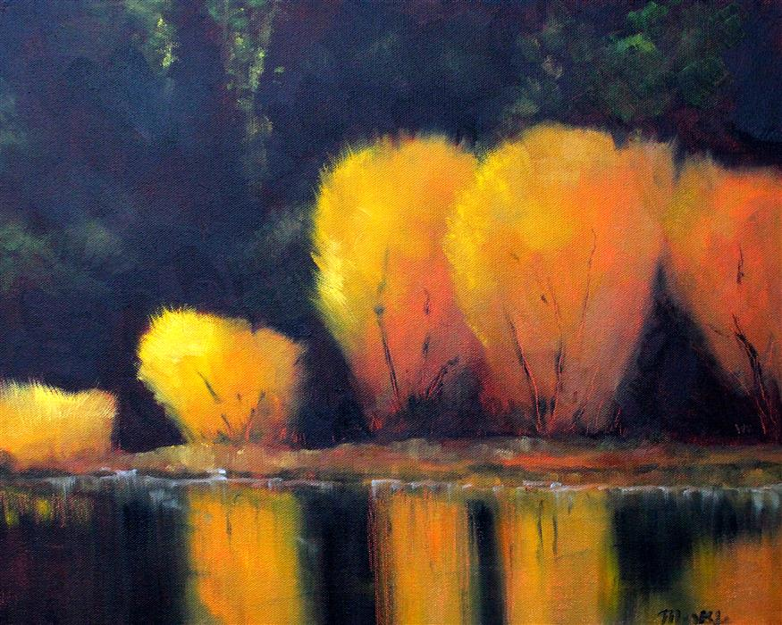 Discover Original Art by Nancy Merkle | Fall Reflection oil painting | Art for Sale Online at UGallery