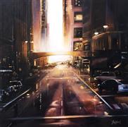 Architecture art,Impressionism art,Realism art,Representational art,oil painting,Sun City
