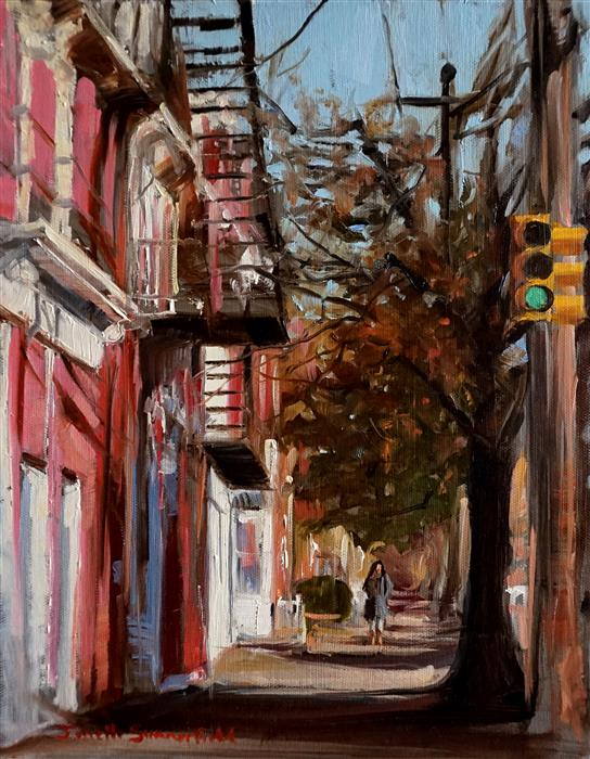 Discover Original Art by Jonelle Summerfield   The South Side of Pittsburgh oil painting   Art for Sale Online at UGallery