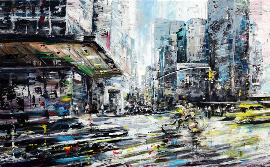 Discover Original Art by Piero Manrique   Fast Lane acrylic painting   Art for Sale Online at UGallery
