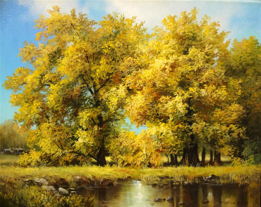 Discover Original Art by Nikolay Rizhankov | Autumn oil painting | Art for Sale Online at UGallery