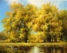Landscape art,Nature art,Classical art,Realism art,Representational art,oil painting,Autumn