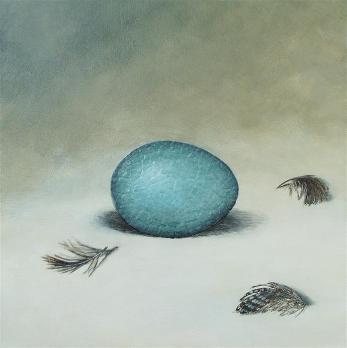 Discover Original Art by Jennifer Ross | The Bird Waits in the Egg #8 mixed media artwork | Art for Sale Online at UGallery
