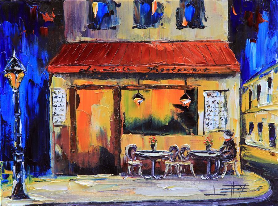Discover Original Art by Lisa Elley | Paris La Nuit oil painting | Art for Sale Online at UGallery