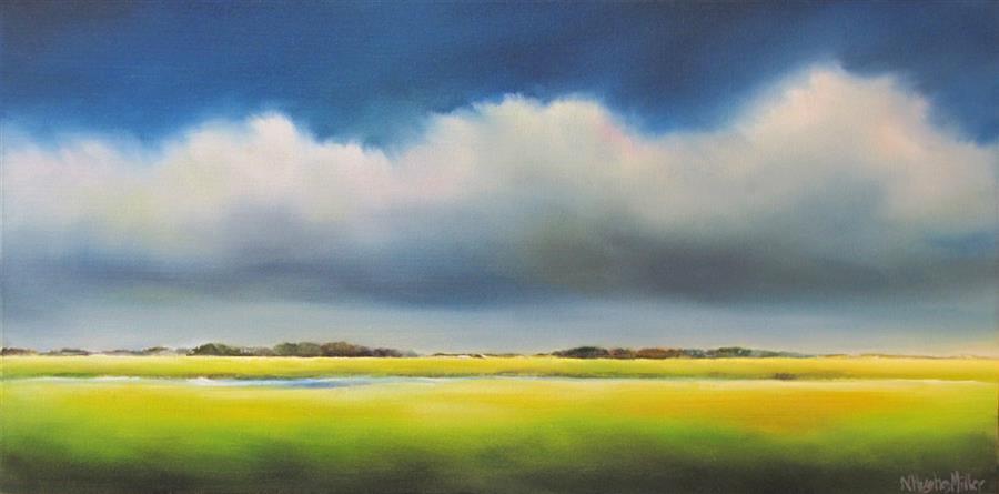 Discover Original Art by Nancy Hughes Miller | Marsh Storm oil painting | Art for Sale Online at UGallery