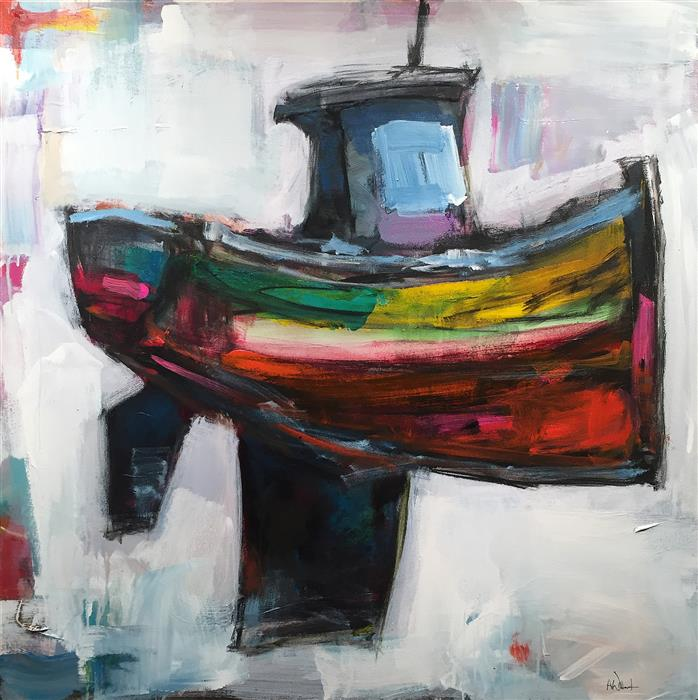 Original art for sale at UGallery.com | Boat by ALLEN WITTERT | $2,775 | Acrylic painting | 36' h x 36' w | http://www.ugallery.com/acrylic-painting-boat-47493