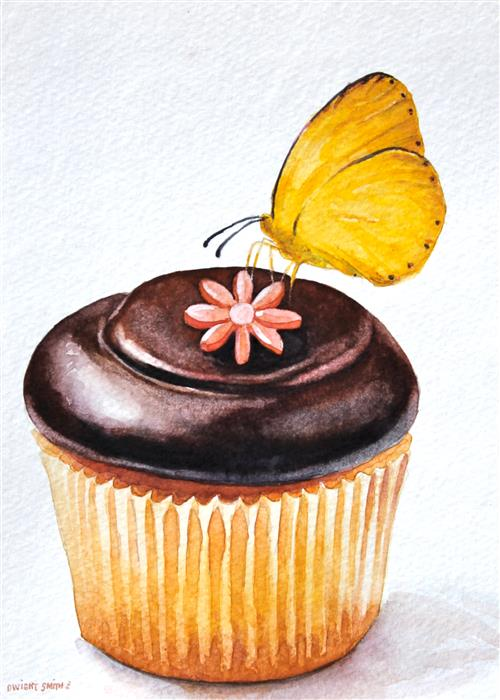Discover Original Art by Dwight Smith | Sweet Tooth watercolor painting | Art for Sale Online at UGallery